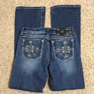 Miss Me Cross Bootcut Jeans